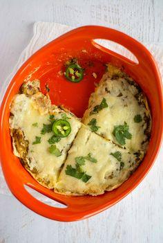 Jalapeno Popper Enchilada Pie