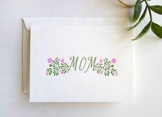 Mothers Day Mom Letterpress Card - Single Card.