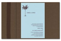 5.42  Coco de Mer - Wedding Invitations by Invitation Consultants. (Item # CB-BLU-MCH-N )