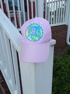Monogram Lilly Pulitzer Seersucker Baseball by SewphisticatedNC