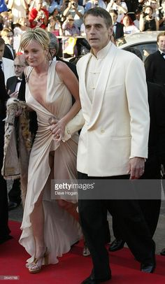 British actor Jeremy Irons and French actress Patricia Kaas attend the closing night of the Cannes Film Festival 2002 on May 21, 2002 in Cannes.