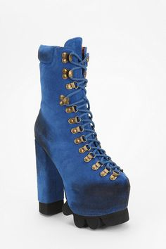 Jeffrey Campbell Kick It Platform Hiker Boot    Maybe it's inspired by UNIF's hellbound... But nonetheless ... I prefer it.
