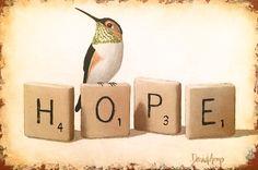 """""""Hope"""" 8"""" x 12"""""""