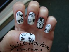 mickey Mouse Swirl Nails
