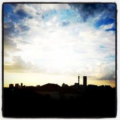 most beautiful skies. joburg.