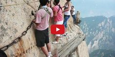 #World's Most #Dangerous Hiking Trail on #MountHuashan