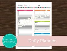 Daily Travel Planner  Travel Planner  Printable by RoadTripBlogger Road Trip Planner, Vacation Planner, Travel Planner, Vacation Trips, Printable Planner, Printables, Be Yourself Quotes, Planners, Travel Tips