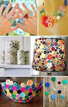 Cantinho das Ideias: Várias Inspirações para fazer com botões