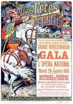 Les Fêtes de Paris. Eugène Grasset, from Les affiches illustrées (1886-1895)…