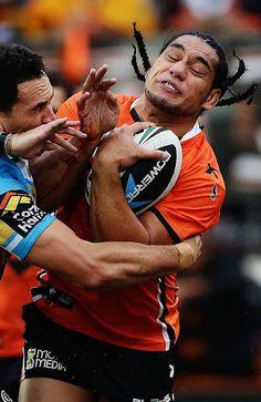 Martin Taupau - West Tigers FWD getting hammered