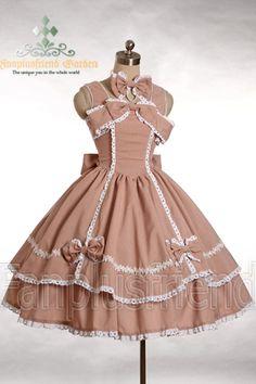 Classical Full Bottom Tender Fleece JSK/Dress&Choker*2Colors - http://www.cosmates.com