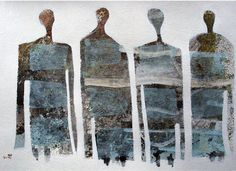 Scott Bergey (Canadian artist) Somebody's, - Mixed media collage on paper 11x 15, 2011