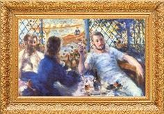 Pierre-Auguste Renoir The Rowers Lunch Museum Quality Printed Art & Frame $8.99