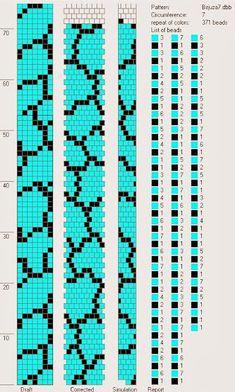 Crochet Bead Ropes Schemata – Prison Bead Layout Schemata - My CMS Crochet Bracelet Pattern, Loom Bracelet Patterns, Crochet Beaded Bracelets, Bead Crochet Patterns, Bead Crochet Rope, Beaded Jewelry Patterns, Beading Patterns, Beads And Wire, Loom Beading