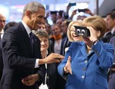 Our selection of some of the best news photographs taken around the world this week.                    Image copyright                  Chritstian Charisus / EPA                  Image caption                     German Chancellor Angela Merkel tested a pair of virtual reality goggles with US President Barack Obama at the industrial technology trade fair in Hanover. The US president was on a two-day visit to Germany.                     Image copyright                  Pete