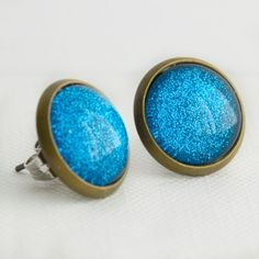 Sapphire Sparkle Earrings in Antique by EnchantdLookingGlass, $11.20
