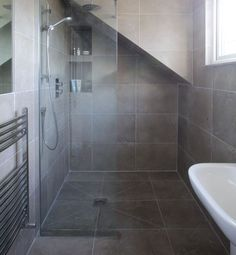 Lucca Limestone in a velvet finish. Contemporary limestone floor and wall tiles for the bathroom.