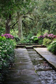 schöne schattengarten gestaltung