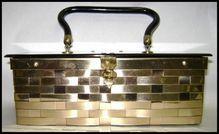 Fabulous 50's Dorset-Rex Lucite & Gold Metal Weave Handbag
