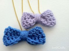 Crochet Bow Necklace Tutorial