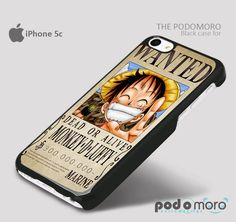 Luffy One Piece wanted for iPhone 4/4S, iPhone 5/5S, iPhone 5c, iPhone 6, iPhone 6 Plus, iPod 4, iPod 5, Samsung Galaxy S3, Galaxy S4, Galaxy S5, Galaxy S6, Samsung Galaxy Note 3, Galaxy Note 4, Phone Case