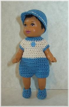 Crochet Romper Set For 3 1/4 Inch BARBIE Nikki by manyminithings