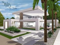 Stylus Modern ultra modern home by Chemy - Sims 3 Downloads CC Caboodle
