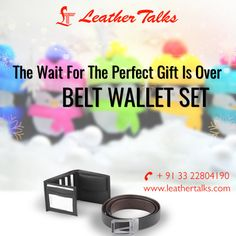 A beautiful way to wish Merry Christmas to your best friend! Buy this BELT WALLET SET I from our online store and surprise him. The bi-fold premium leather wallet in black features a luxuriously smooth full grain exterior imparting it a very sophisticated look and the black belt is an additional charm of the gift set.  http://leathertalks.com/product/belt-wallet-set-1/