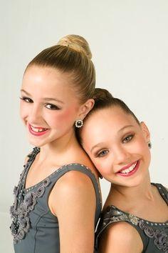 Chloe Lukasiak (blonde), and Maddie Ziegler (brunette)
