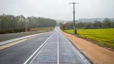 Here's apparently the world's first solar road.Image: EPAEPA/CHRISTOPHE PETIT TESSONBy Johnny UTC The village of Tourouvre-au-Perche in Normandy, France, is taking solar panelling from the roof to the street. The town says Solar Energy For Home, Solar Energy Projects, Solar Energy Panels, Best Solar Panels, Solar Energy System, Solar Power, Wind Power, Solar Panel Technology, Technology News