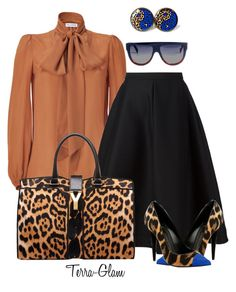 >>>Cheap Sale OFF! >>>Visit>> A fashion look from January 2016 featuring Emilio Pucci blouses Vika Gazinskaya skirts and Yves Saint Laurent tote bags. Browse and shop related looks. Church Fashion, Work Fashion, Modest Fashion, Daily Fashion, Fashion Looks, Chic Outfits, Fashion Outfits, Fashion Trends, Woman Outfits
