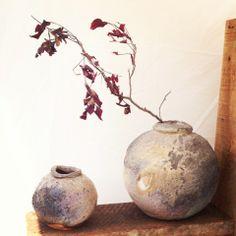 Mitch Iburg Ember Buried Jars Native Virginia White Clay Anagama Fired  photo by Jessie Kanaley