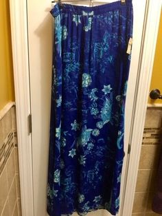 f64f9e24d NWT Women's Coldwater Creek Blue Reversible Skirt Size Small / 8 #fashion  #clothing #