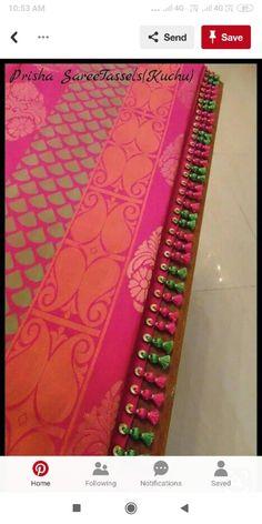 Saree Jacket Designs, Saree Tassels Designs, Saree Kuchu Designs, Beaded Embroidery, Hand Embroidery, Designer Sarees Collection, Saree Border, Designer Blouse Patterns, Saree Dress