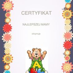Dzień Matki: Dyplomy i certyfikaty do pobrania i druku dla dzieci, Winnie The Pooh, Disney Characters, Winnie The Pooh Ears, Pooh Bear