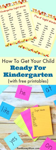 How To Get Your Child Ready For Kindergarten