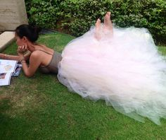 DO you remember when I posted about the beautiful skirt that I handmade with over 800 yards of of tulle! THIS is it!! The Beautiful Jamie Yong of I Love Bon Bons is wearing it! Check out her site at www.ILoveBonbons.com Check out the skirt at www.KalliAlba.com It will be custom made to fit you (in you choice of color (s).