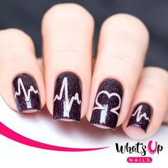 Whats Up Nails - Heartbeat Stickers & Stencils from WhatsUpNails.com @whatsupnails
