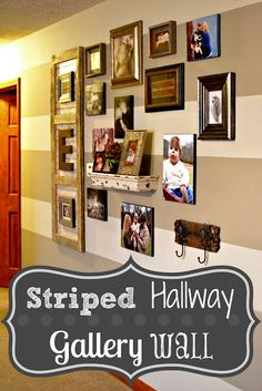 Bonfires and Wine: Stripes and Memories. Gallery Wall
