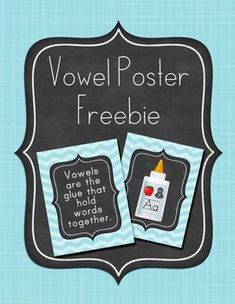 Vowels are the glue posters and anchor chart freebie!