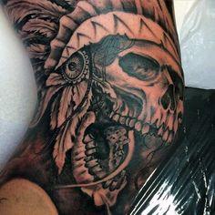 Image result for skull elbow tattoo designs