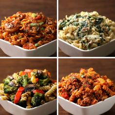 Rotini Pasta 4 Ways by Tasty