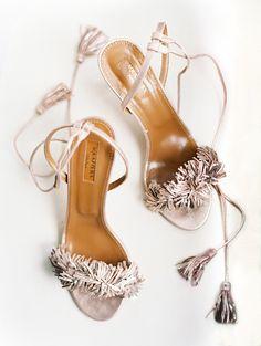 Aquazzura ruffled stilettos: Shoes: Aquazzura - http://www.stylemepretty.com/portfolio/aquazzura Photography: Clary Pfeiffer Photography - claryphoto.com   Read More on SMP: http://www.stylemepretty.com/2017/03/23/5-tips-for-a-smooth-dress-fitting-process/