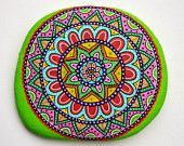 ADRIATIC STONES - Painted Stones & Pebbles:  Hand Painted Stone Mandala from Sassi Dell'Adriatico's Store on ETSY.