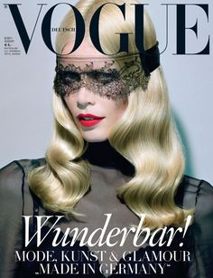 Claudia Schiffer by Miles Aldridge Vogue Deutsch August 2011