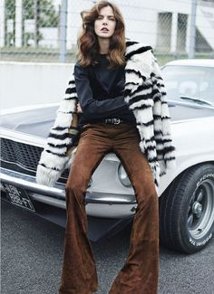"""Charon Cooijmans in """"The Fast Lane"""" by Markus Pritzi for Marie Claire, September 2014"""