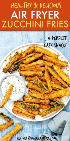 Air Fryer Oven Recipes, Air Frier Recipes, Air Fryer Dinner Recipes, Air Fryer Recipes Potatoes, Air Fryer Recipes Vegetables, Recipes Dinner, Zucchini Pommes, Parmesan Zucchini Fries, Zucchini Crisps
