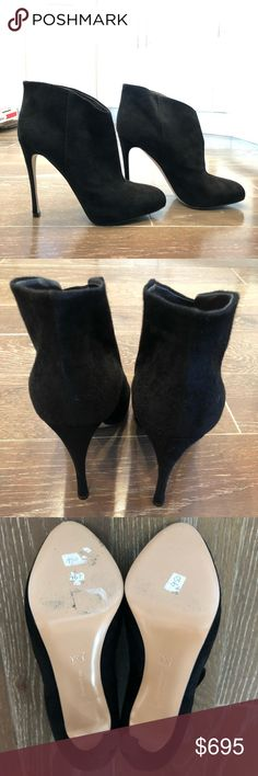 b3a3ab20c22af Gianvito Rossi Suede Booties Gianvito Rossi Camoscio Stivale Suede Black  Booties. Brand new condition, size 38.5. Retails $950 Gianvito Rossi Shoes  Ankle ...