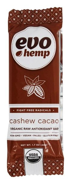 Save on Organic Raw Antioxidant Bar Cashew Cacao by Evo Hemp and other Nutrition Bars, Plant Based Protein Bars          and Raw remedies         at Lucky Vitamin. Shop online for Nutritional Bars, Evo Hemp items, health and wellness products at discount