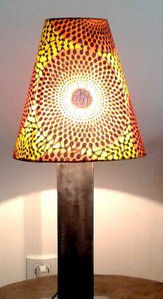 Lampe CleCle Luminaires esprit Vintage avec Abat jour en Pagne